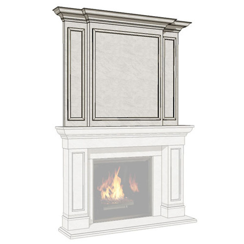 Dracme Monarch Cast Stone Uppermantel
