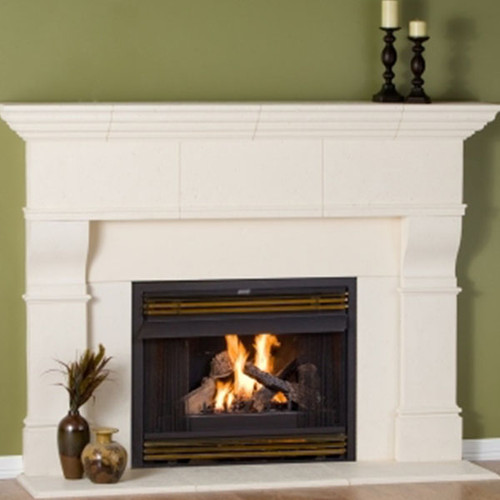 Premier Mantels - Edinborough shown with Traditional Cream Finish