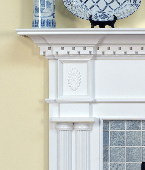 COLONIAL WOOD FIREPLACE MANTEL STANDARD SIZES