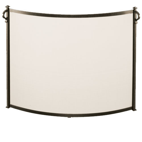 Pilgrim Bowed Craftsman Fireplace Screen (Multi Sizes Available)