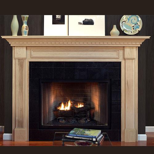 Charleston Wood Fireplace Mantel Custom Mcpcn1su