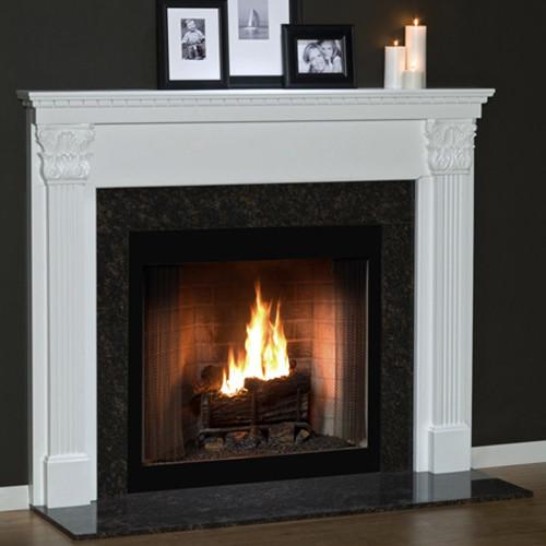 Olympia Custom Fireplace Mantel- Acanthus Leaf