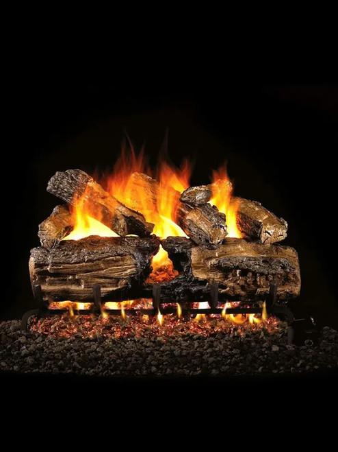 Burnt Split Oak Gas Logs