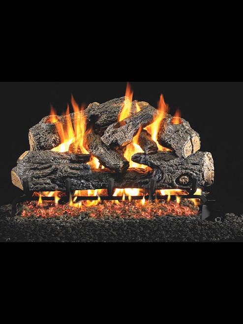 Charred Northern Oak Gas Logs