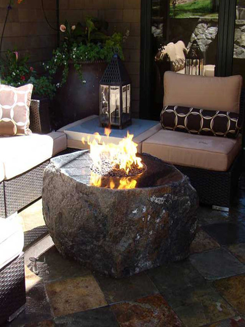 """32"""" Mesa Copper Fire Bowl with Optional Water Feature"""