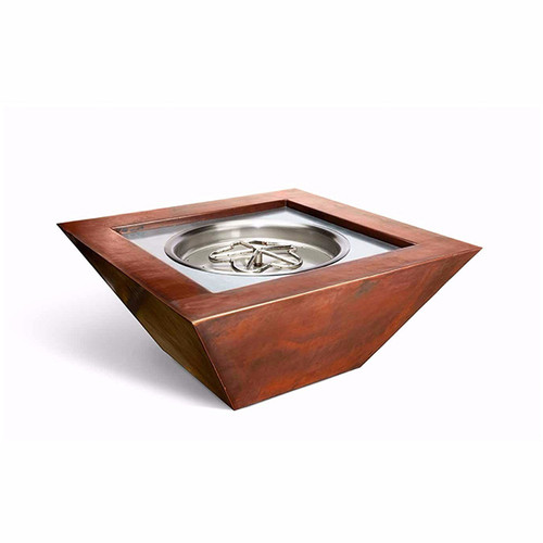 """36"""" X 36"""" Sierra Copper Fire Pit with Fire & Water Option"""