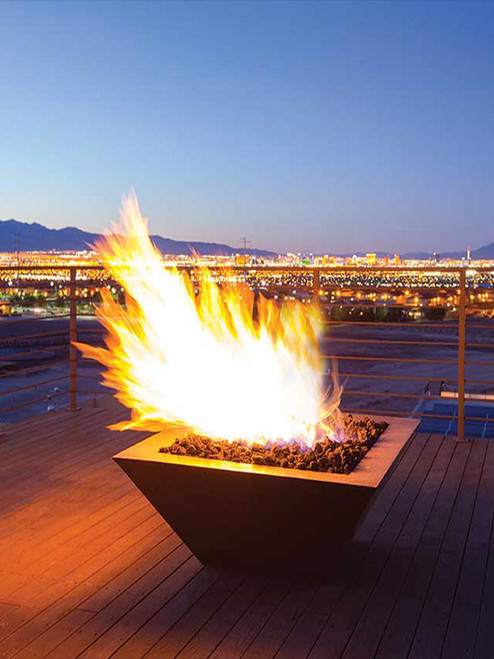 """40"""" x 40"""" Sedona Copper Fire Bowl with Optional Water Feature"""