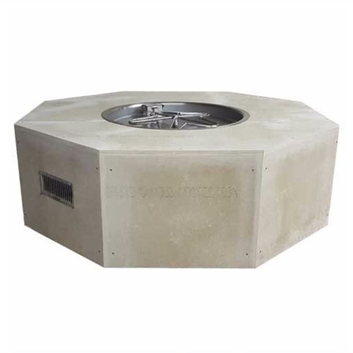"""45"""" Octagon Ready to Finish Fire Pit with 25""""Bowl Pan - 18"""" Penta Burner"""