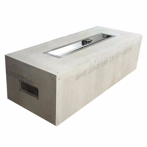 """60""""X24"""" Ready to Finish Fire Pit Enclosures with 48"""" Trough Burner"""