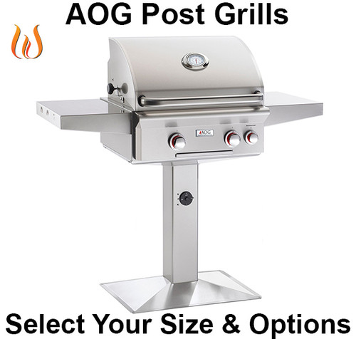 """Build Your AOG Post Mount 24"""" Grill"""