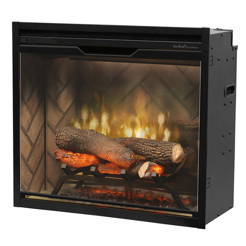 "Dimplex 24"" Revillusion Plug-In Firebox with Herringbone Backer"
