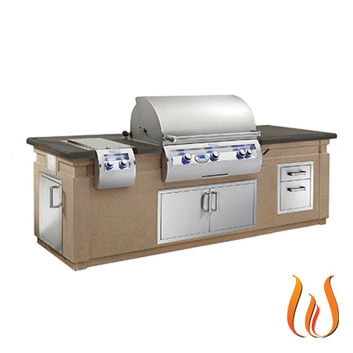 """DC790 GFRC Island System with Double Drawers (35"""" x 108"""")"""