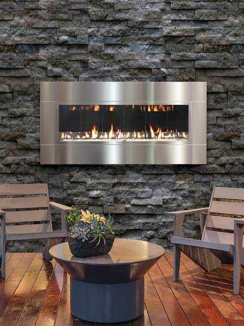 FORTY6 Outdoor Contemporary Fireplace