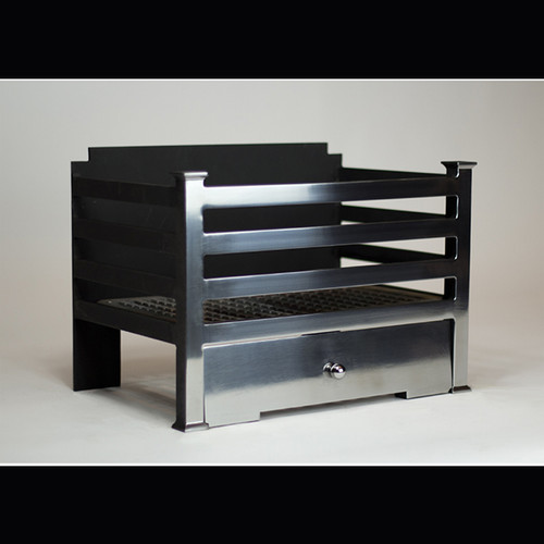 "Available in 18"" and 22"" widths           Amhurst 18"" Fire Basket          Amhurst 22"" Fire Basket Product data  Overall size  18"" (457) W x 13"" (331) H x 11 7/8'' (302) D  More information  All Chesney's fire baskets and register grates are suitable for use with solid fuel or DFE gas fires"