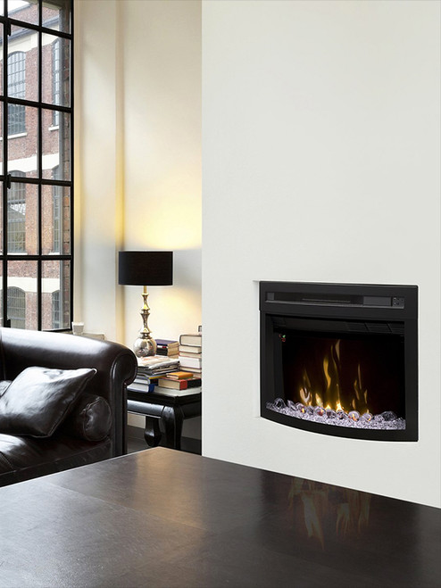 """Dimplex 25"""" Firebox with curved glass"""