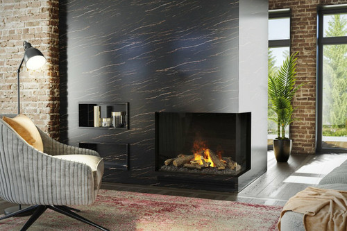 e-MatriX Two-Sided Built-in Electric Firebox, Right-facing