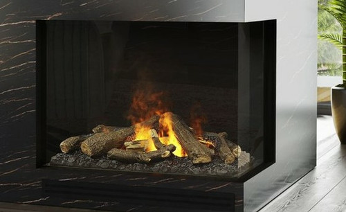 """MatriX Two-sided Built-in Gas Fireplace, Right-facing - 33"""" x 26"""""""