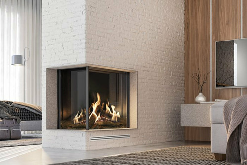 """MatriX Two-sided Built-in Gas Fireplace, Left-facing - 33"""" x 26"""""""