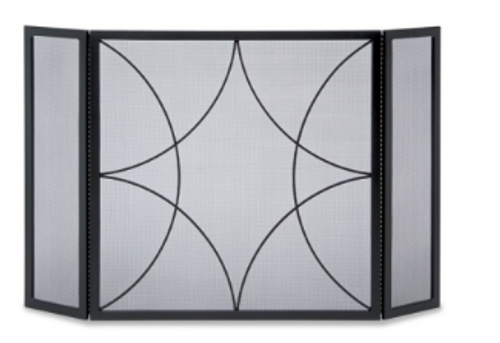 Pilgrim Forged Diamond 3 Panel Screen