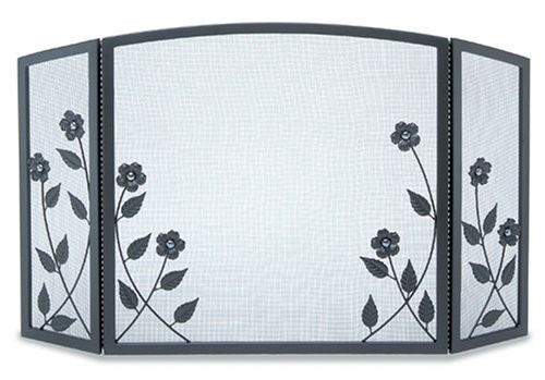 Pilgrim Forged Floral 3 Panel Screen