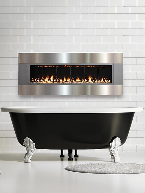 Solas Fire FORTY6 Wall Mounted Linear Fireplace