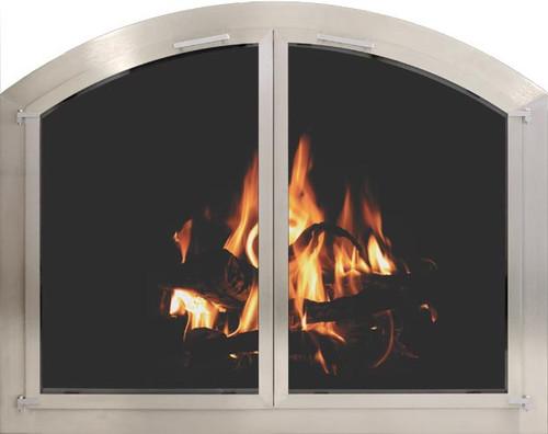 Outdoor Stainless Steel Fireplace Doors