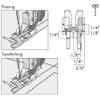 Clear 1/4 Inch Right Guide Foot For IDT System