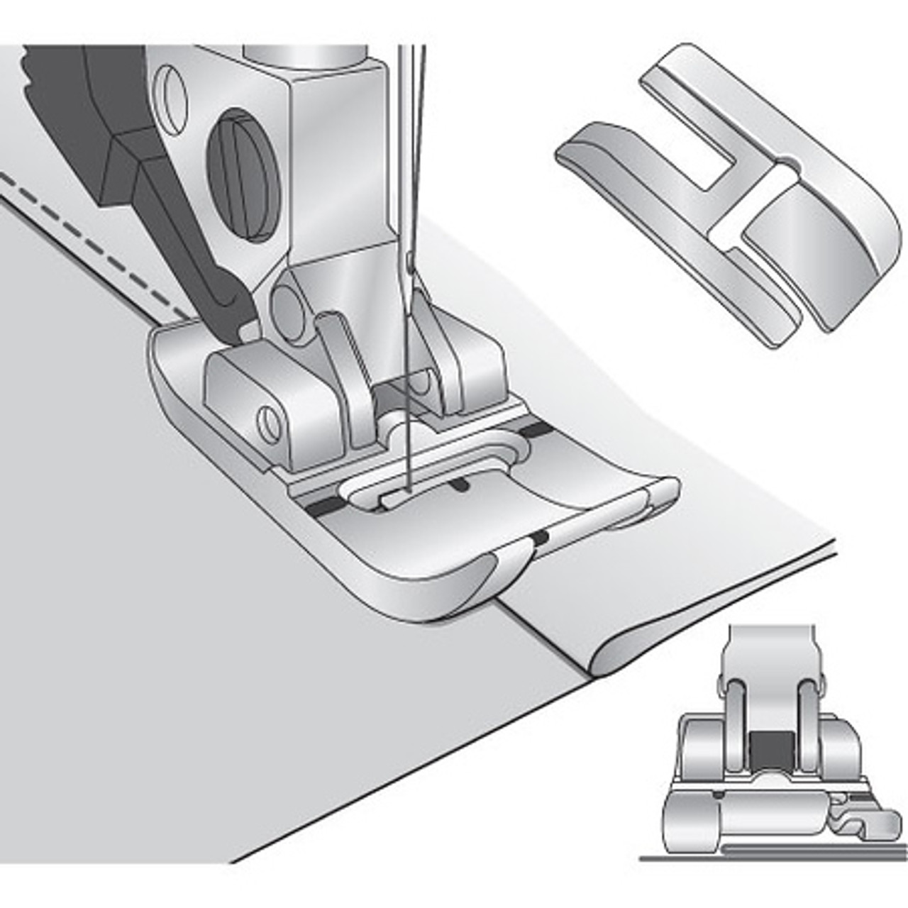BI-Level Topstitch Foot For IDT System