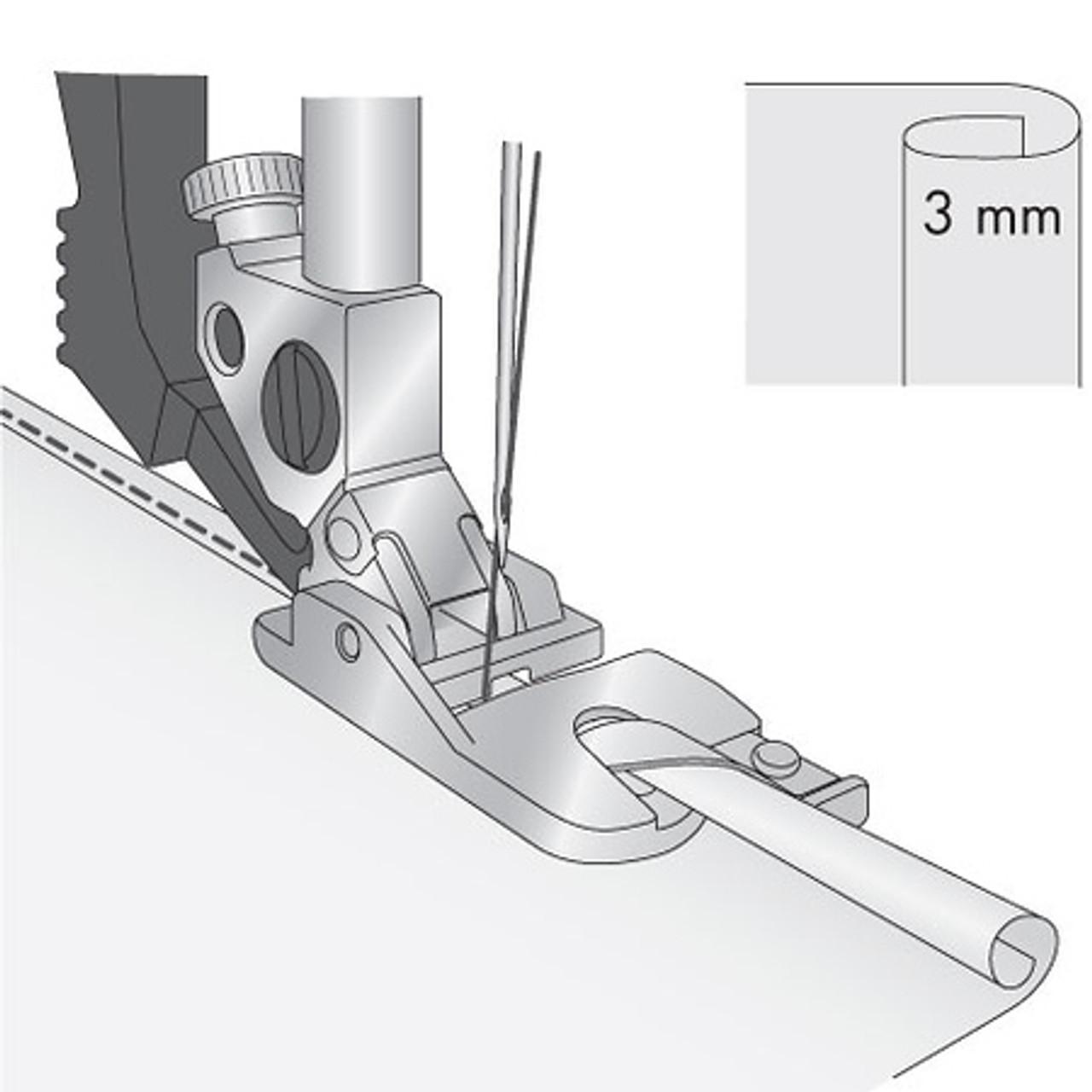Rolled Hem Foot 3mm  IDT System