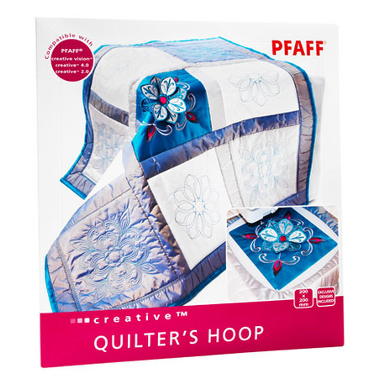 Pfaff  200 x 200  Creative Quilters Hoop