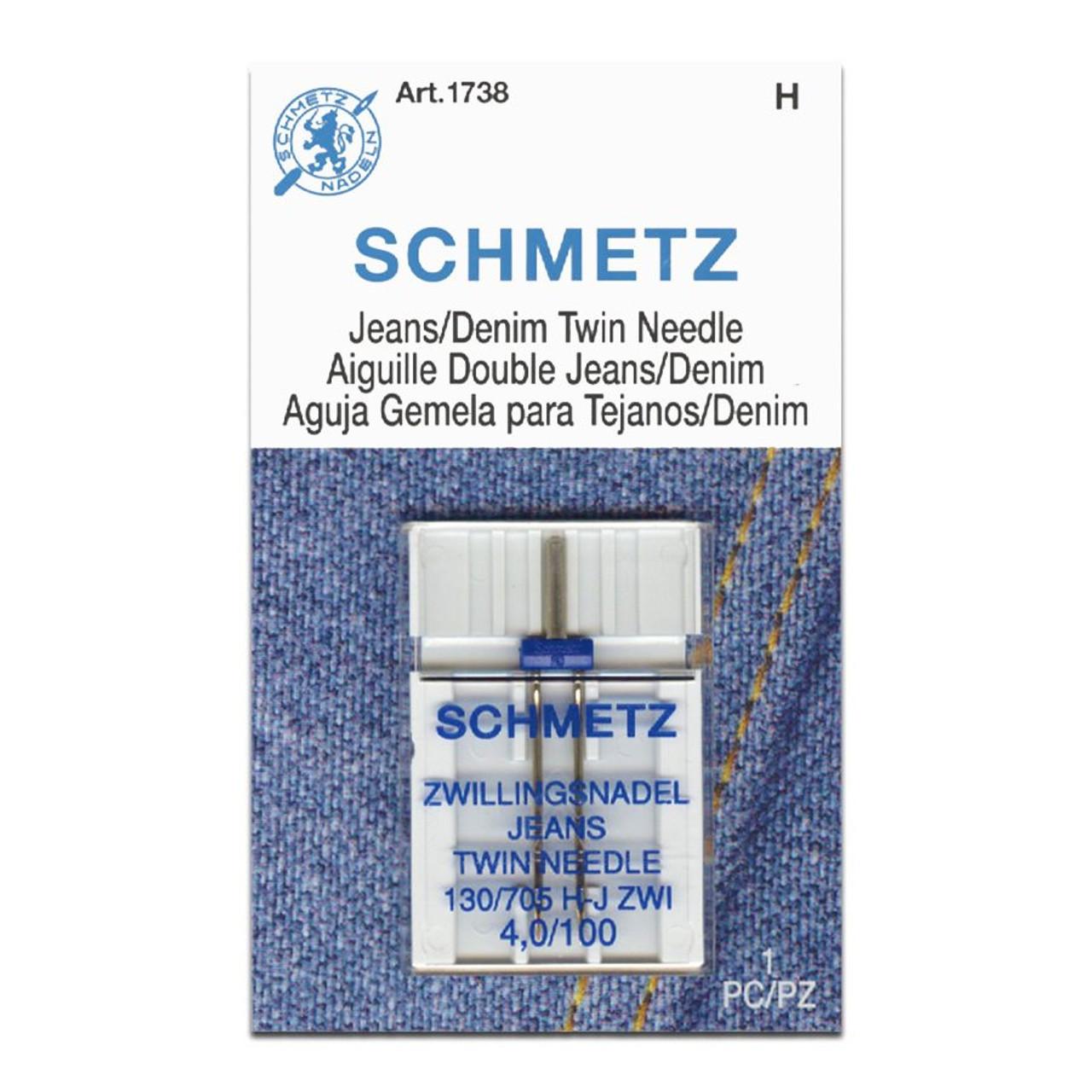 Schmetz Jeans/Denim Twin Needle, Size 4.0/100