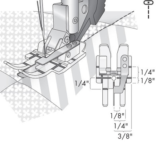 Clear Stitch-In-Ditch Foot for IDT System
