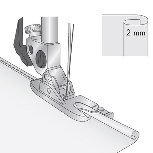 Rolled Hem Foot 2mm Without IDT
