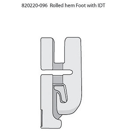Rolled Hem Foot 4mm  IDT System