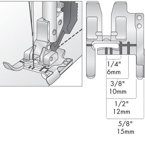 Seam Guide foot with IDT