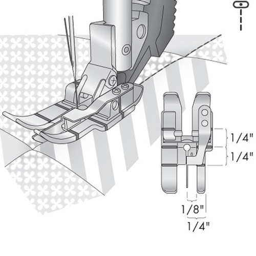 Stitch-In-Ditch Foot For IDT System