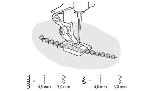 Husqvarna Viking Mini Beading foot 4mm