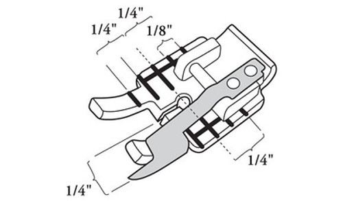 """Husqvarna Viking Clear 1/4"""" Piecing foot with guide"""