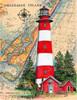 Assateaque Island Lighthouse by Donna Elias