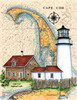 Cape Cod Highland Lighthouse Sea Chart