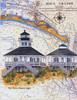 Boca Grande Sea Chart Light by Donna Elias