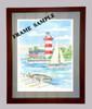 Assateque Island Lighthouse - Maritime Watercolors Original Painting
