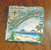 Fort Myers Beach & Estero Island Chart- 4 Slate Drink Coasters