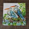 Blue Herons tile copyright Donna Elias
