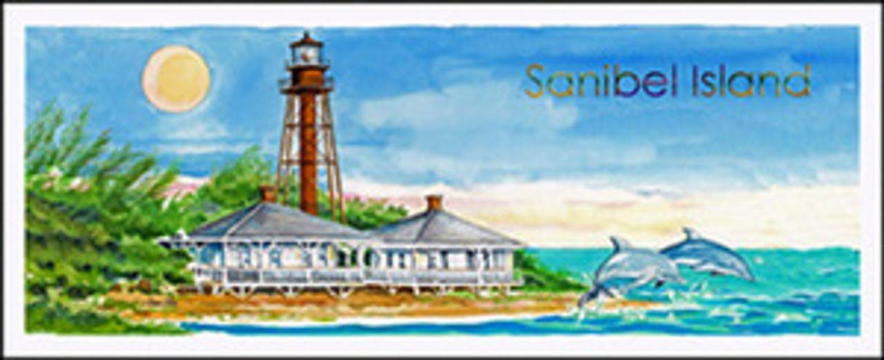 Sanibel Island Lighthouse & Dolphins