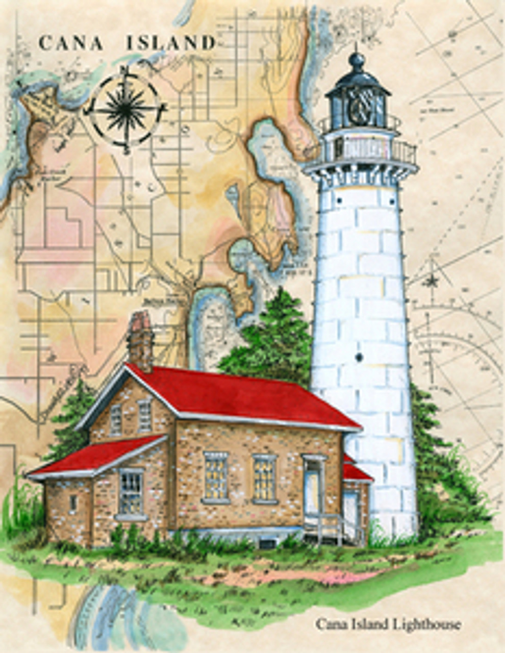 Cana Island Sea Chart Light copyright Donna Elias