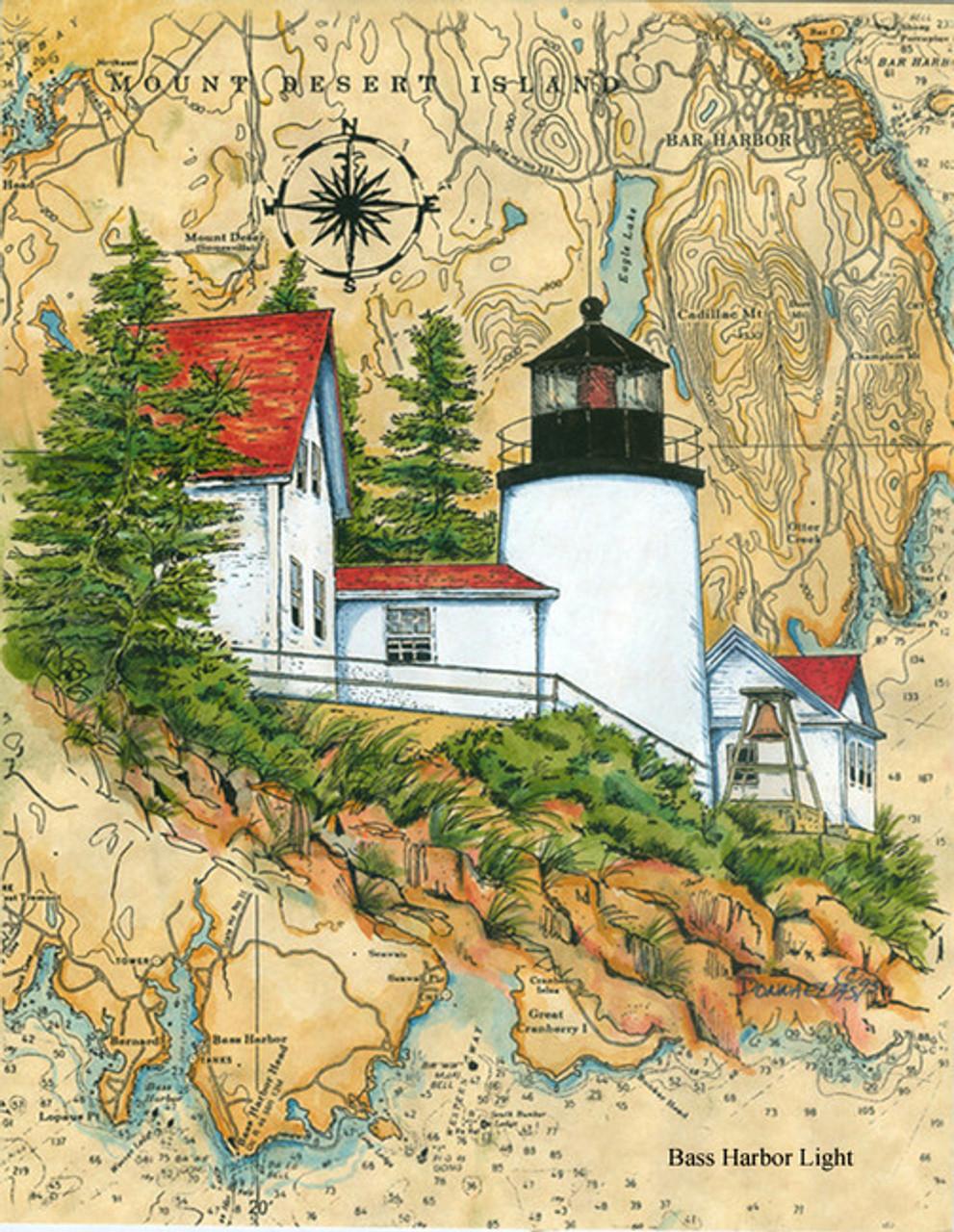 Bass Harbor Head LighthouseSea Chart