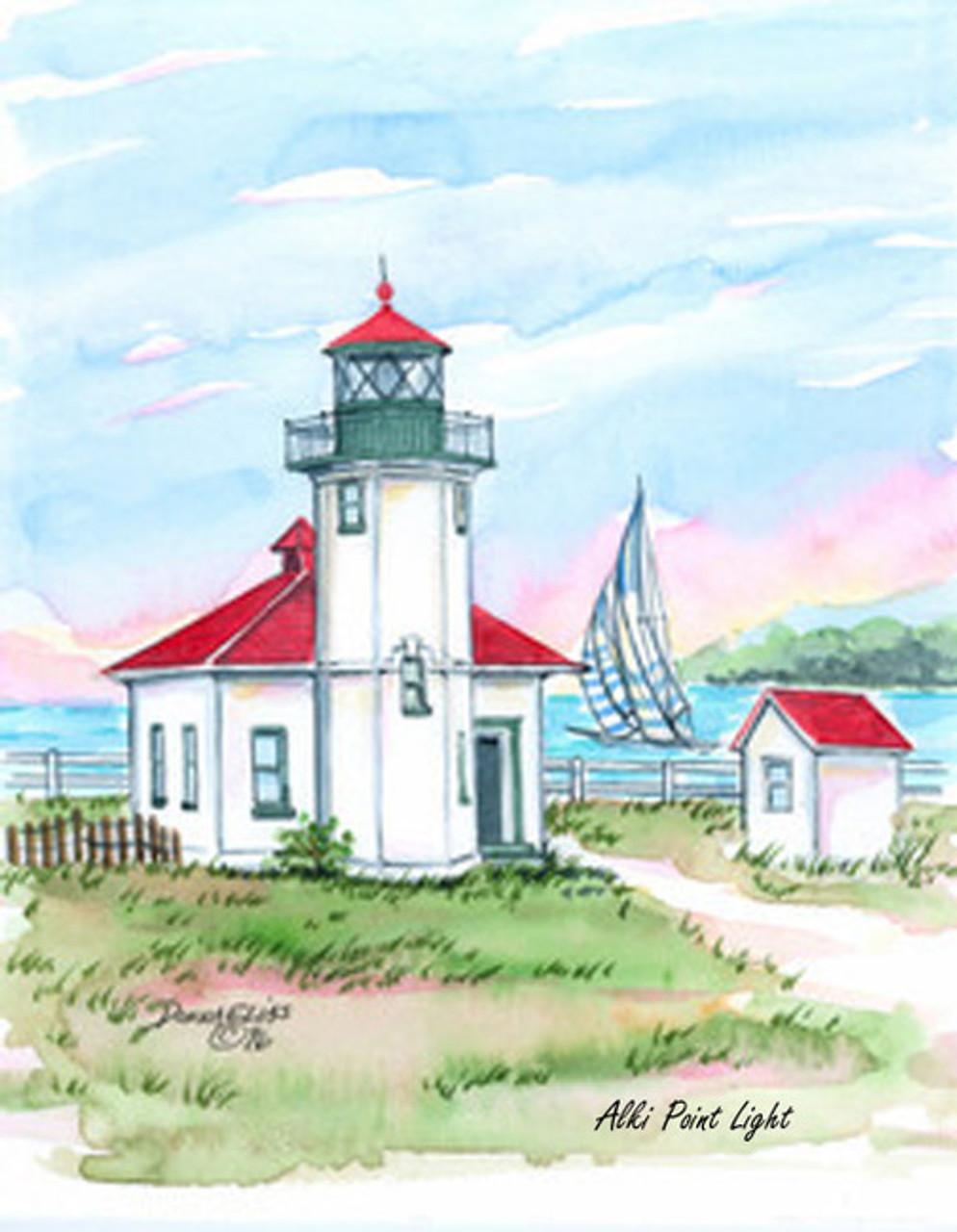 Alki Point Lighthouse copyright Donna Elias