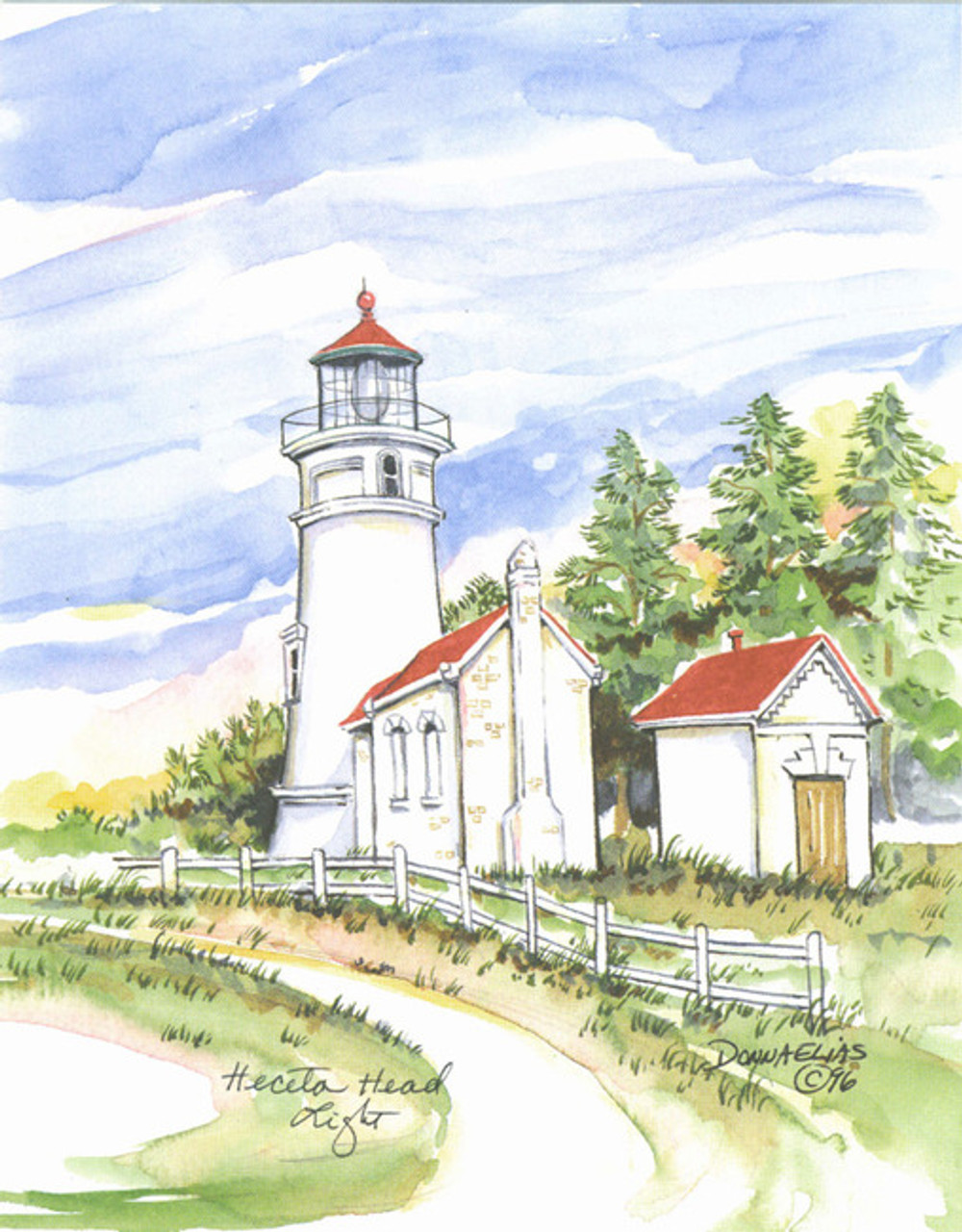Heceta head Lighthouse copyright Donna Elias