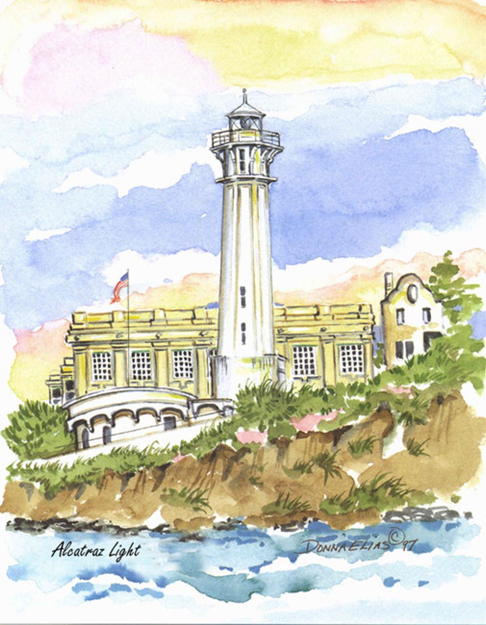Alcatraz Lighthouse copyright Donna Elias